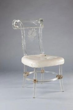 Helena Rubinstein's Lucite chair, originally from a set of 8, designed by Ladislas Medgyes and produced by Rohm & Haas in the late-1930s