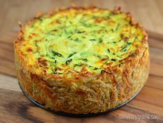 Slimming Eats Spiralled Zucchini Quiche - gluten free, vegetarian, Slimming World and Weight Watchers friendly