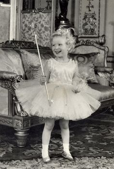 a picture of Princess Anne at Prince Charles' 5th birthday party at Windsor Castle 14/11/1953 ..OIC 0203 174 1069