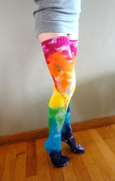 38230d1a0111d Colored Splash Color Thigh Highs. Love these colors!   Costumes ...