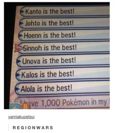 Johto was the one I played over and over. Crystal was my favorite game. But, I can't deny Kanto is a classic.