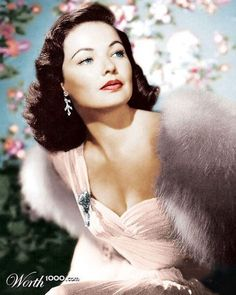 Todays 1940s hair & make up inspiration from Gene Tierney