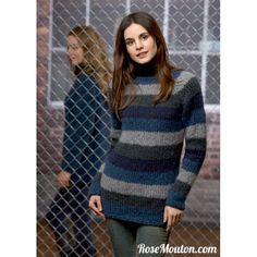 #Pull #Raglan #tricoté en #laine Odeon de Lang Yarns #Catalogue Lang Yarns #Collection FAM 214. #mohair #tricot #knit #wool #yarns #LangYarns #RoseMouton