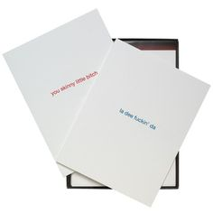 Frien-emy Card Collection.   Too too funny!!  2 each of 4 designs.  Set of 8.   $14  fab.com