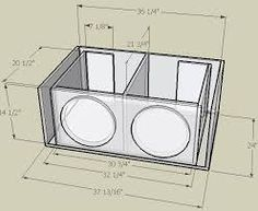 Resultado de imagen para subwoofer box design for 12 inch Diy Subwoofer, 12 Inch Subwoofer Box, Custom Subwoofer Box, Subwoofer Box Design, Car Speaker Box, Speaker Plans, Speaker Box Design, Audio Box, Car Audio