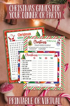 Christmas Games For Family, Christmas Party Games, Christmas Dinner Games, Christmas Party Ideas