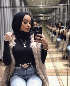 Hijab Fashion Summer, Modern Hijab Fashion, Street Hijab Fashion, Hijab Fashion Inspiration, Teen Fashion Outfits, Modest Fashion, Chic Outfits, Iranian Women Fashion, Islamic Fashion