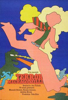 1977 Polish poster forGODZILLA VS. MECHAGODZILLA(Jun Fukuda, Japan, 1974) Artist:Maciej Zbikowski