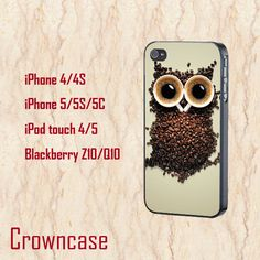 iphone 6 plus case,cute iphone 6 case,cool iphone 6 cover,iphone 6 case,iphone 6 cases,unique iphone 6 plus case,art coffee owl,iphone6 case by CrownCase88