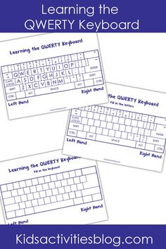 Help your kids learn to type with these fun free printables! Fill in the blanks on the keyboard and work on typing skills.