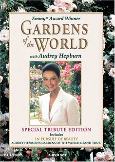 'Gardens of the World with Audrey Hepburn' (1993) Acclaimed documentary television series filmed on location in seven countries in the spring and summer of 1990. In her final performance before her passing, Miss Hepburn takes you on a tour of some of the world's loveliest public and private gardens. She was awarded an Emmy for Outstanding Individual Achievement posthumously. Inspiring video for all who wish to know what options they have, and what delights are available in the way of…