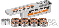 #Bronson Speed Co. G3 Bearings (Pack of 8) #Next Generation Bearings, Designed for Todays Skateboarding.Deep Groove Raceways- balls roll deep in raceway channels - reduces side impact damage and breakageStraight Edge Frictionless Shields- pop off resistant - holds oil in, dirt and moisture out- easy to cleanMicro Groove Raceway Surfaces- linear micro-groove surfaces improve bearing lubrication, speed and spinMax Impact Cage Design- non- distortion custom cage keeps the balls precision spaced…