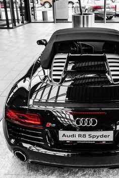 Visit The MACHINE Shop Café... ❤ Best of Audi @ MACHINE... ❤ (Black Audi R8 Spyder Supercar)