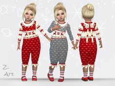 A cuddly jumpsuit for the pre-xmas time :D Found in TSR Category 'Sims 4 Toddler Female' Sims 4 Toddler Clothes, Sims 4 Mods Clothes, Sims 4 Clothing, Toddler Girl Outfits, Baby Girl Dresses, Baby Boy Jumpsuit, Toddler Jumpsuit, Sims 4 Cas, Sims Cc