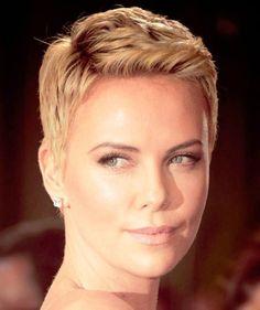 nice Charlize Theron Short Hair