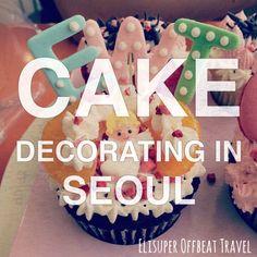 Cake Decorating Cafe In Seoul | Elisuper Offbeat Travel - http://www.elisuperoffbeattravel.com/2015/06/seoul-offbeat-mi-cake-decorating/