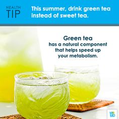 Skip the sugary calories of sweet tea and sip on iced green tea - a refreshing and healthy alternative.