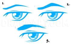Realistic Eye Drawing, Male Figure Drawing, Guy Drawing, Manga Drawing, Drawing Guide, Anatomy Drawing, Female Drawing, Drawing Ideas, Cartoon Eyes