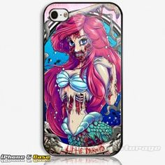 Little Mermaid Zombie  Custom iPhone 5 Hard Case Cover