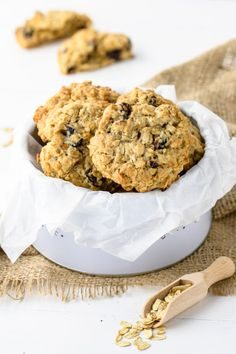 Wymarzone ciasteczka owsiane (7 składników) - Wilkuchnia Cereal, Muffin, Cooking Recipes, Cookies, Breakfast, Food, Diet, Kitchens, Thermomix