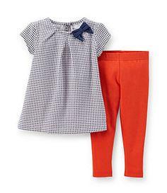 Carter´s Newborn-24 Months Geometric-Print-Top & Solid-Pant Set