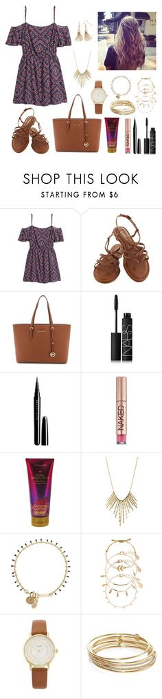 """Untitled #200"" by katymccord77 ❤ liked on Polyvore featuring H&M, MICHAEL Michael Kors, NARS Cosmetics, Marc Jacobs, Urban Decay, Victoria's Secret, Charlotte Russe, Isabel Marant, Accessorize and Kate Spade"