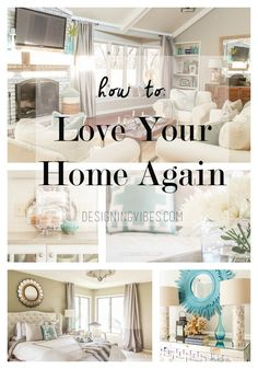 How to love your home again. Simple and cheap ways to improve your house. Home decor and home improvement how to.