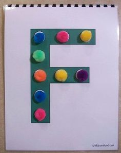 Pom-Pom Alphabet and Counting Books ... children put pom-poms in the blank circles.
