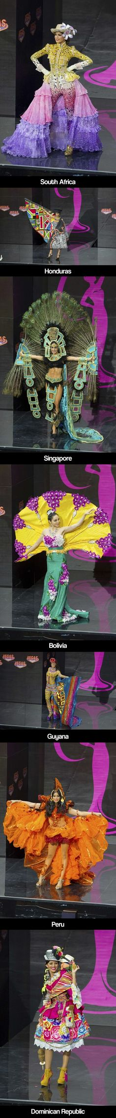 Miss Universe parade of national costumes... and then there's USA *facepalm*