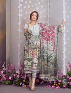 Khas Luxury Eid Lawn Suits Designs Collection consists of latest festive lawn dresses trends & styles having floral embroidered shirts, kurtas, All Black Dresses, Stylish Dresses For Girls, Wedding Dresses For Girls, Simple Dresses, Casual Dresses, Pakistani Fashion Casual, Pakistani Dresses Casual, Eid Dresses, Pakistani Dress Design