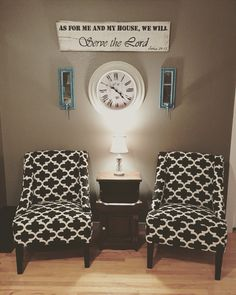 Chairs And Lamp From Gordmans Clock Hobby Lobby
