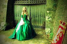 Cersei Game of Thrones Medieval Corset Gown Silk and Chiffon Custom. $850.00, via Etsy.