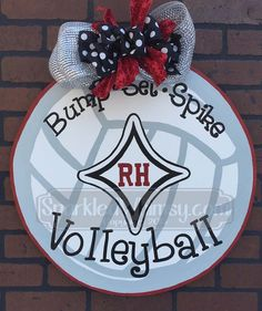 Sports: Volleyball Door Hanger Bump Set Spike by SparkledWhimsy