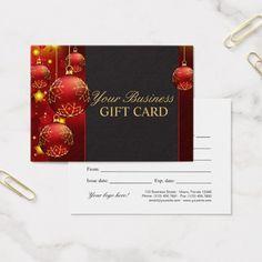 Elegant Christmas And Holiday Gift Card Template #christmas #gift #cards #holiday #gift