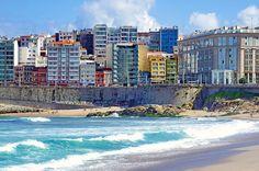 A Coruña La Corogne Galice Espagne 204 - Av Pedro Barrié de la Maza, la plage