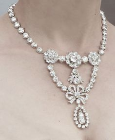 Queen Josefina of Sweden's Diamond Stomacher Necklace.