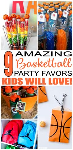 Birthday Party Favors! Basketball party favors for a kids bday. The best Basketball favor ideas all children will love. Fun & easy ideas for a boy or girl party! Goodie bags, candy, gumballs, & more great take home favors for your guests.
