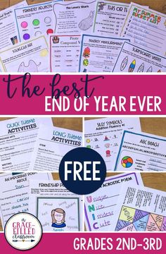 FREE end of the year