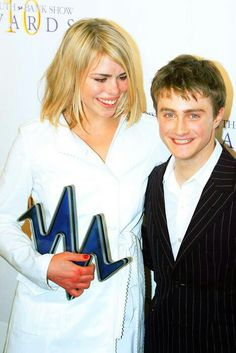 Billie Piper (Doctor Who) and Daniel Radcliff (Harry Potter) When fandoms collide!