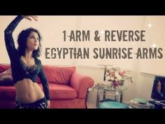 Belly dance arms and hands: one arm reverse Egyptian sunrise