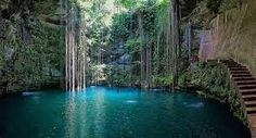 North America's 6 Best (and Secret) Swimming Holes - Cenote Ik Kil, Yucatan Oh The Places You'll Go, Places To Travel, Places To Visit, Travel Destinations, Cancun Vacation, Vacation Spots, Vacation Rentals, Cancun Mexico, Isla Vaadhoo