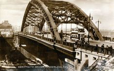 Postcard of the Wearmouth Bridge, Sunderland, c1930 (TWAM ref. DF.ATK/16/16/1). The postcard is unused. This set celebrates the many postcards in our collections. The people, places and events they show can give us an insight into the past, documenting the landscape, the fashions, the way we lived. Some postcards are unused but others tell us something about the people who bought them, through the messages they wrote. They can give us a fascinating glimpse into people's lives.... Marine Engineering, Aerial Images, North East England, Fishing Villages, Sunderland, Back In Time, Historical Pictures, Sydney Harbour Bridge, Aerial View