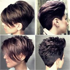 Short Pixie Cuts for 2020 In 2020 Short Haircuts Winter 2019 2020 All the Trends Short Curly Cuts, Short Wavy Haircuts, Short Afro Hairstyles, Pixie Haircut For Thick Hair, Short Straight Hair, Fringe Hairstyles, Hairstyles Haircuts, Short Hair Trends, Corte Y Color