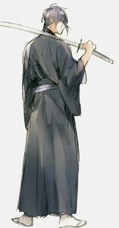 миказуки Best Anime Drawings, Anime Sketch, Cute Drawings, Hot Anime Boy, Anime Guys, Katana, Anime Style, Anime Manga, Anime Art