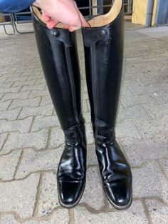 Equestrian Boots, Mens Shoes Boots, Men, Cavalier Boots, Dressage, Hessen, Black, Riding Boots