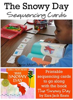 """Get printable sequencing cards to go along with the book """"The Snowy Day"""" by Ezra Jack Keats. Snow Activities, Speech Activities, Language Activities, Classroom Activities, Learning Activities, Learning Time, Learning Centers, Teaching Resources, Teaching Ideas"""