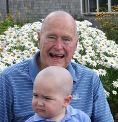George H.W. Bush and his entire security detail shaved their heads in solidarity with Patrick, the two-year-old son of another Secret Service member who is being treated for leukemia