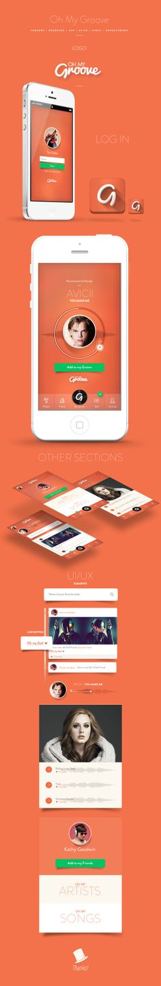 http://fixedagency.com Branding | Concept | UI/UX | Development | Audio | App - A Social Network App which compiles interests, interactions and more in order to suggest new artists and songs to users.