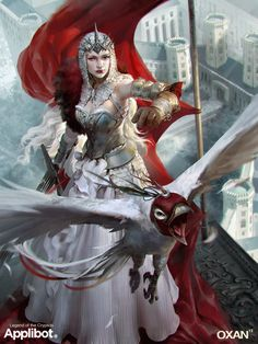 Fantasy Art: White Queen - 2D Digital, FantasyCoolvibe – Digital Art Fantasy Art by OXAN Studio.