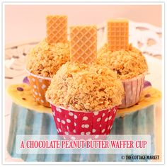 It's a Cinch Chocolate Peanut Butter Ice Cream Waffer Cups - The Cottage Market